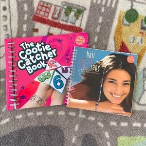 Girls Craft Books Hair Wraps & Cootie Catchers